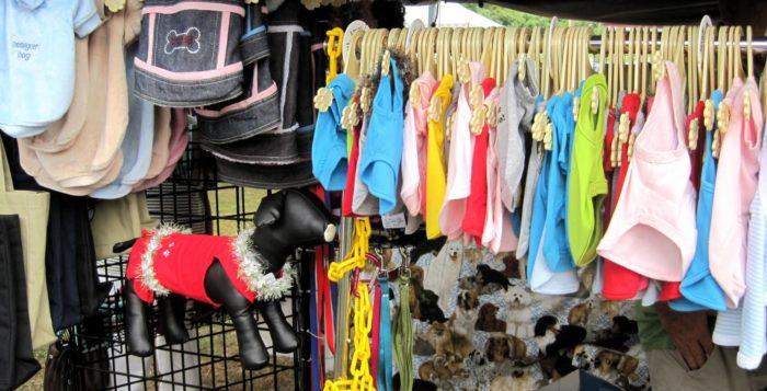 a craft fair booth