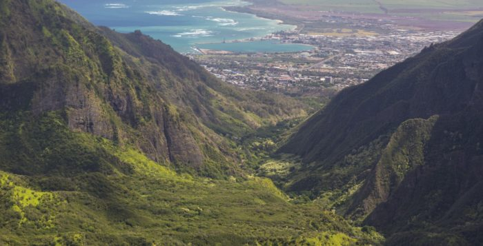 a view of iao valley state park on maui