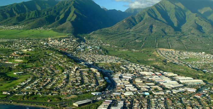 a view of wailuku on maui