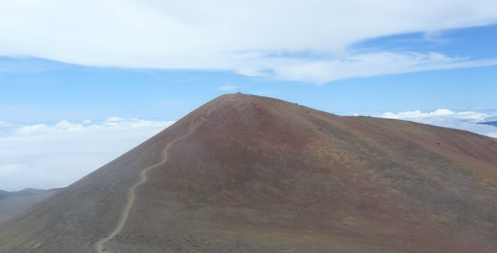 the peak of mauna kea