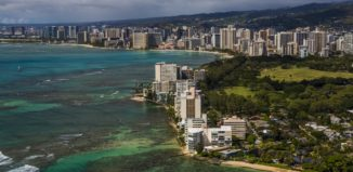 an aerial view of waikiki on oahu