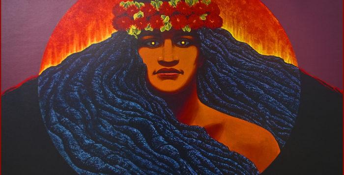 a portrait of the goddess pele