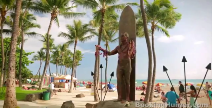 a screenshot of a video featuring waikiki