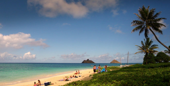 lanikai beach on oahu