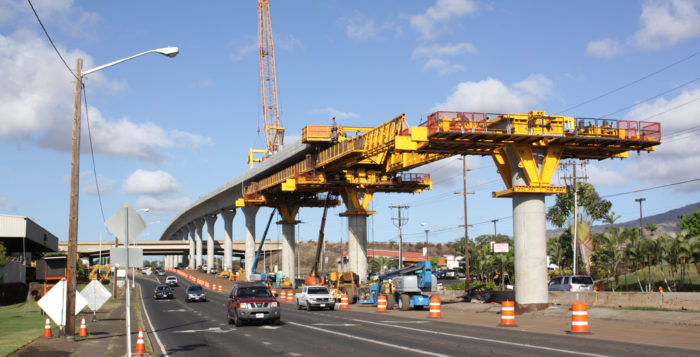 rail construction in honolulu