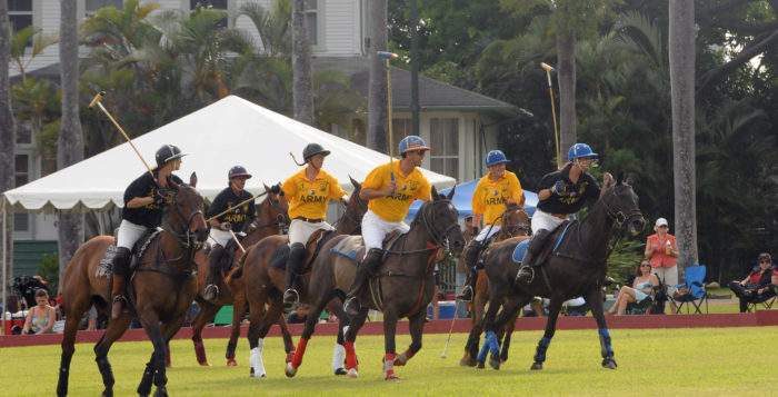men ;playing polo