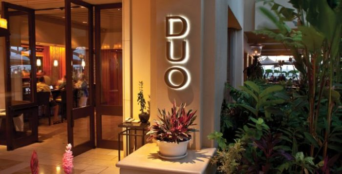 an exterior photo of duo steakhouse