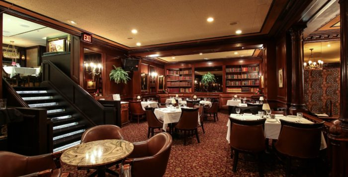 the interior of hy's steakhouse
