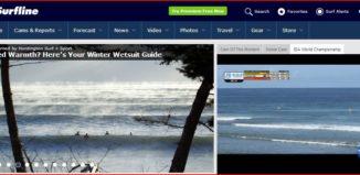 a screenshot of the surfline.com website