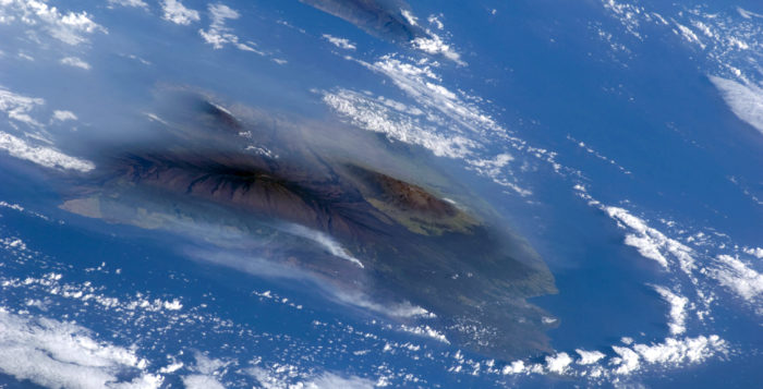 Big Island vog from space