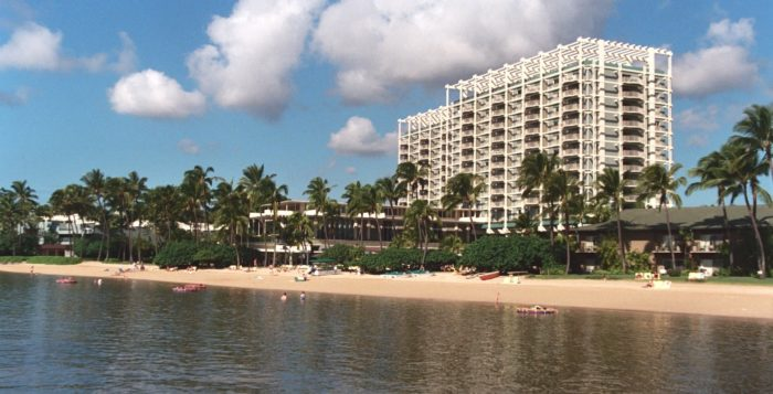 Kahala Hotel seen from the ocean