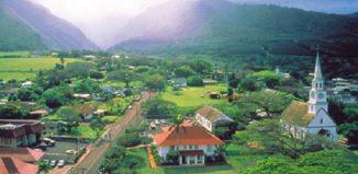 Aerial view of Wailuku