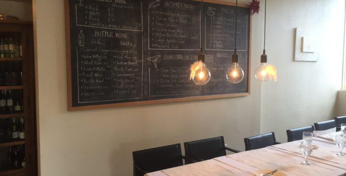 a chalkboard menu