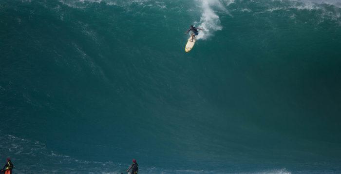 a surfer riding a wave