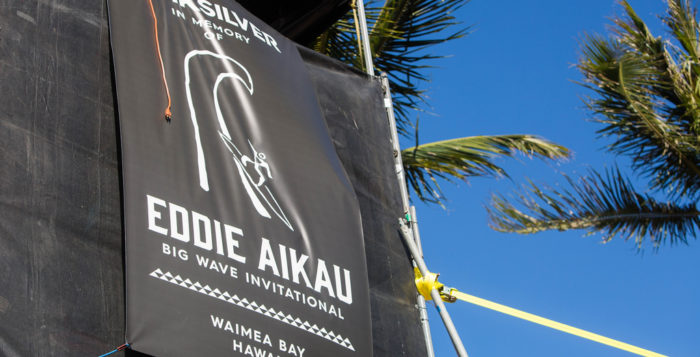 a sign for the eddie aikau surf contest