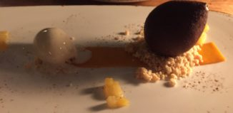 dessert on a plate
