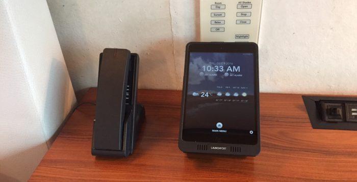 an ipad air and a telephone