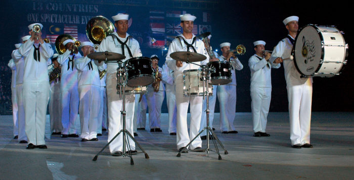 the pacific fleet band performing
