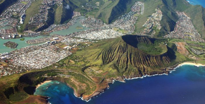 Oahu from air