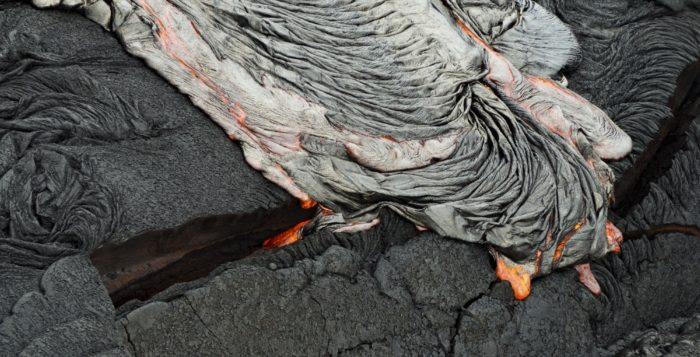 lava oozing and coolling