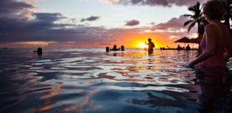 Sunset from a Waikiki pool
