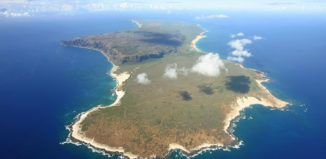Aerial of Niihau from high up