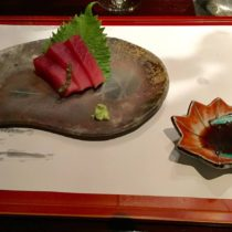 Sashimi plated from Vintage Cave Club
