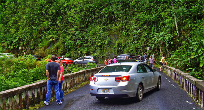 Traffic along Road to Hana