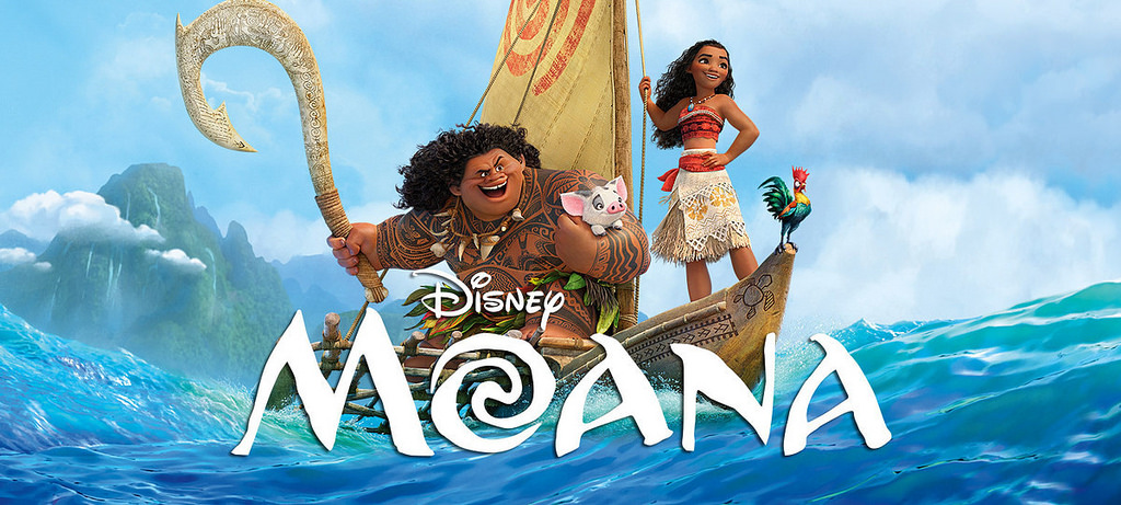 Title shot of movie Moana