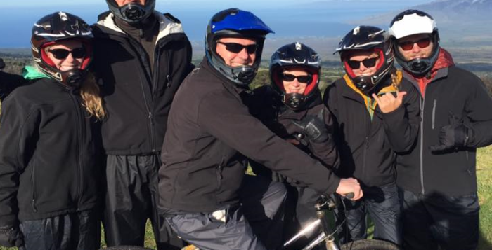 Summit bikers atop Haleakala