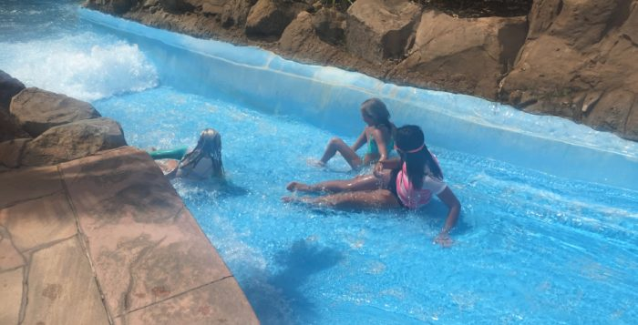 Kids on Grand Wailea slide