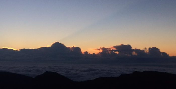 Sunrise from atop Haleakala