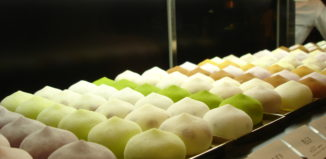Mochi on trays