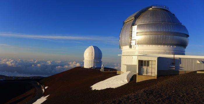 Observatories on top Mauna Kea