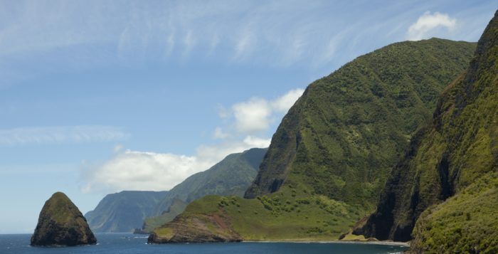 View along Molokai's north shore