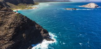 Makapuu lighthouse and windward Oahu coastline
