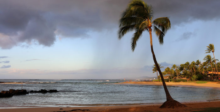 Early morning at Poipu Beach