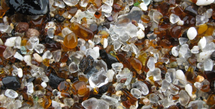 Weathered glass on Glass Beach