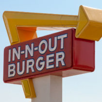 In N Out burger sign