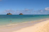Lanikai beach with islands off shore