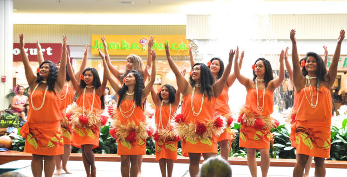 Hula dancers at Kahala Mall