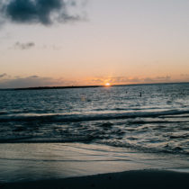 Kailua Beach is one of the best places to watch the sunrise on Oahu. Come 30-40 minutes before the sun comes up to catch the blue hour and watch the sky change colors.