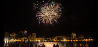Fourth of July Celebrations in Hawaii include food, festivals, parades, and fireworks. Ala Moana Center's fireworks show has been named among the best in the country.