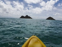 Kayaking to Moku Nui (the island on the left) is one of my favorite places to kayak.