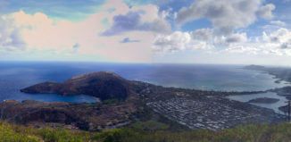 The 1,048 stairs to get to the top of Koko Head reward you with this view.