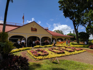 The entrance to the Dole Plantation.