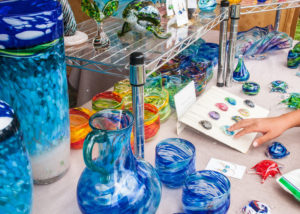 Many different kinds of art are available to purchase at the Hale'iwa Arts Festival.