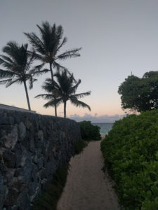You can't see Lanikai Beach from the road - it's almost hidden! Look for these access points.