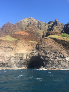 Sea arches can be found throughout the Na Pali Coast.