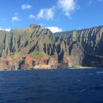 Kauai's gorgeous Na Pali Coast is the perfect backdrop for a sunset cruise. Make this one of your Kauai Must-Dos!
